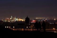 Cracow by night, good? (Arek Olek) Tags: city friends men night bench lights cloudy 85mm wawel kraków cracow noc katedra kościół bazylika samyang nocne krakoff
