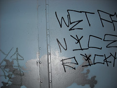 Williamsburg (AMTER) Tags: door blue brooklyn grafitti williamsburg berrystreet