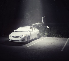 Abducted. (Nigel Bland | www.goldstarlabs.com) Tags: canon eos graphicdesign photo photographer ad floating aliens toyota 5d okc abduction oklahomacity corolla 2010 alienbees explored goldstarlabs nigelbland