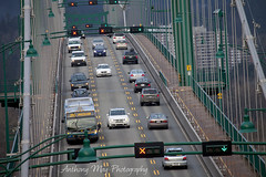 Counterflow (anthonymayphotography) Tags: bridge canada vancouver bc traffic britishcolumbia pacificnorthwest stanleypark lionsgatebridge pnw suspensionbridge urbanphotography pacificnw route99 firstnarrowsbridge nationalhistoricsiteofcanada bc99 britishcolumbiahighway99