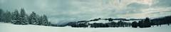 winter panorama (desomnis) Tags: winter sky panorama snow cold clouds landscape 350d austria skyandclouds canoneos350d eos350d sumava mhlviertel bhmerwald panoramaview desomnis