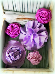 fabric flowers (AllThingsPretty...) Tags: ribbonflowers ribbonroses fabricroses
