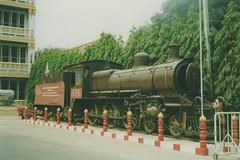 Thailand - Kanchanaburi - Private steam (railasia) Tags: heritage museum thailand artifact nineties kanchanaburi srt nbl steamloco tenwheeler burmarailway metergauge