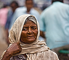 Getting Weary. (Parth Jhala) Tags: old city portrait people woman india lady canon eos details portraiture hyderabad 550d