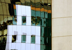 edificio (beckstei) Tags: brazil urban abstract reflection building geometric window glass brasil mirror edificio copacabana leme riodejanerio edific