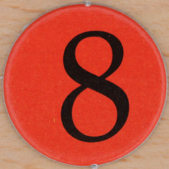 Carol Vorderman's Sudoku red number 8 (Leo Reynolds) Tags: xleol30x squaredcircle 8 eight onedigit number xsquarex sqset075 numberset canon eos 40d 0sec f80 iso100 60mm grouponedigit hpexif xx2012xx sqset