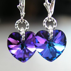 Purple Heart Earrings Sterling Silver Swarovski Cobalt Iris Blue Violet Purple Crystal Heart Drop Earrings (DorotaJewelry) Tags: jewelry earrings dangle valentinesday purpleheart swarovskicrystal crystalheart sterlingsilver blueheart purpleplum heartearrings purpleearrings crystalearrings romanticlove