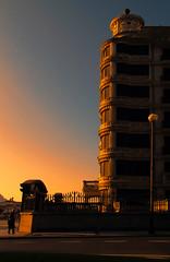 59/366 (envisionpublicidad) Tags: sol café de la edificio paseo concha puesta sansebastian febrero donostia 2012 vacío francés