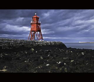 Herd Groyne Lighthouse / River Tyne / South Shields