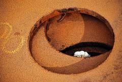Hullene -|- The holes (erlingsi) Tags: rust rusty oc rost rouille rouillé scana erlingsi erlingsivertsen rostiges óxidos texturasnaturales
