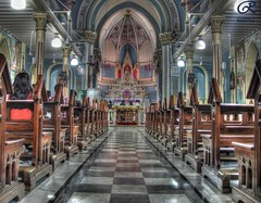 Inside of Mount Mary church,Bandra(HDR) (RohaN S.) Tags: india church catholic god holy maharashtra mumbai hdr bandra basillica holymotherofgod mountmary thebasilicaofourladyofthemount thechallengefactory rohansangodkar