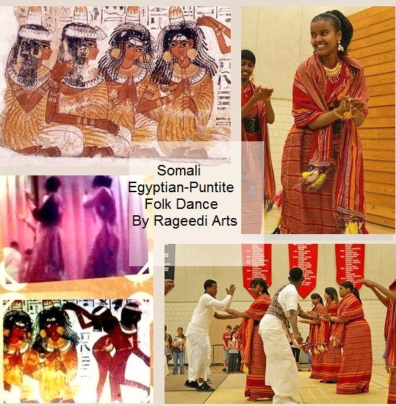 """HOYDADO-DHAANTO"" Somali Ancient Egyptian-Puntite Culture and Folk Dance by Rageedi Arts ."