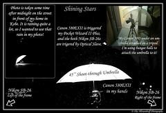 Shining Stars Setup Shot (Ilko Allexandroff / ) Tags: portrait rain umbrella self canon stars japanese nikon alone wizard flash setup explain pocket shining tutorial sb26 strobist strobism 580exii