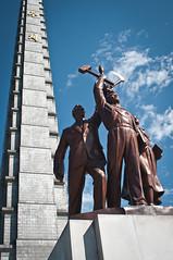 Juche Tower (momo) Tags: statue northkorea pyongyang dprk juchetower