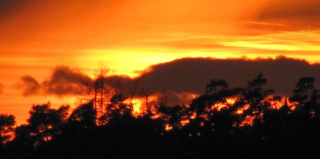 sunset  - while Solar Flares