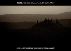 Silhouettes at Sunrise - Val d'Orcia - Tuscany
