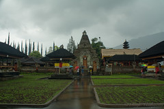 Bratan Lake Temple 2 (Raji Vathyam) Tags: bali lake mountains water beautiful rain clouds canon dark indonesia lens landscape scenery shade kit 1855mm beratan lakeberatan