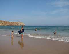 Lets Go Surfing (Been Around) Tags: praia beach portugal strand europa europe niceshot eu playa algarve plage atlanticocean oceanoatlntico atlantik sagres barlavento letsgosurfing praiadamareta thisphotorocks ilustrarportugal thebestshots regiodoalgarve