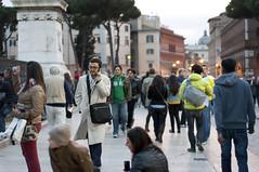 gente (Adriano Rossi) Tags: people roma 50mm nikon gente persone piazza f18 venezia d90 blinkagain