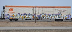Hindue/Ghouls (LadyBench) Tags: train graffiti rail saskatchewan burner freight reefer fr8 ghouls cryo benching hindue