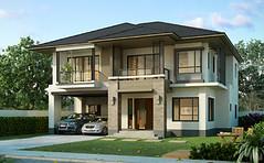 บ้านเดี่ยว เศรษฐสิริ ชัยพฤกษ์-แจ้งวัฒนะ แบบบ้าน  สิริเบญจา