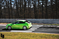 Nrburgring March 2012 - Ford Focus RS (Bas Fransen Photography) Tags: hot green ford race germany march spring nikon focus fast racing panning circuit rs 2012 fordfocus nordschleife nrburgring fordfocusrs d5000