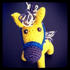 Talking to me?! (TinaOo) Tags: horse square squareformat amigurumi virkning häst fjording crochetwork iphoneography instagramapp xproii uploaded:by=instagram