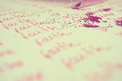 F (Lucia Cortés Tarragó) Tags: pink white vintage paper faith brilliantine