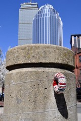 Warm Loop (AntyDiluvian) Tags: park boston spring massachusetts rings knitted pillars southend booties backbay pru prudentialtower thepru southwestcorridorpark 111huntingtonavenuebuilding