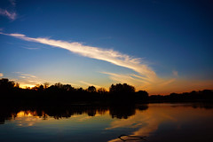 fishing river sunset (dan.levchenko) Tags: trees sunset minnesota clouds contrast reflections river mississippi fishing driftwood twig mississippiriver treeline