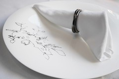 Place setting at The Modern (Scott Atwood) Tags: newyork dinner napkin plate placesetting themodern uploaded:by=flickrmobile flickriosapp:filter=nofilter