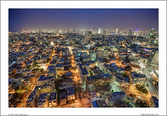 Electric City (Ilan Shacham) Tags: life above electric buildings landscape lights spread evening israel telaviv high cityscape view dusk fineart scenic business veins roads fineartphotography