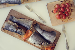grilled fish (halat photography) Tags: fish dinner tomatoes grill