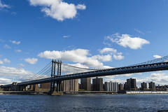 Sun Morning Manhattan Bridge (Wallace Flores) Tags: nyc bridge brooklyn nikon manhattanbridge eastriver newyorkstate d3s