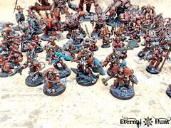 Khorne's Eternal Hunt 2016 (3) (KrautScientist) Tags: world army chaos space 40k knight marines xii renegade hunt legion eternal csm eaters khorne lorimar khornes