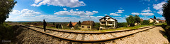 The Track (Taken with an iPhone) (K.Marinovi - Artist) Tags: sky panorama sun color apple beautiful mobile clouds photoshop wonderful children landscape kid nice colorful track child outdoor vibrant gorgeous smartphone editing karlo lightroom iphone marinovic