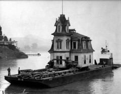 The Lyford House being saved from demolition and moved by barge across Richardson Bay, Tiburon, California, December, 1957 [960x749] #HistoryPorn #history #retro http://ift.tt/1Xtn1JZ (Histolines) Tags: saved california from house history by bay december being demolition retro 1957 timeline moved across barge tiburon richardson the vinatage lyford historyporn histolines 960x749 httpifttt1xtn1jz