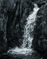 Pecca Falls (S.R.Murphy) Tags: england blackandwhite bw water monochrome rock creek landscape waterfall falls northyorkshire ingleton ingletonfalls flickrexplore peccafalls flickrexplore18052016