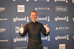 Ryan Janek Wolowski thumbs up from the red carpet at the press step and repeat wallpaper for the GLAAD Media Awards at the Waldorf Astoria Hotel in New York City (RYANISLAND) Tags: nyc newyorkcity gay usa ny newyork celebrity television fashion lesbian gaymen tv media famous style glbt pride transgender lgbt glam newyorkstate bisexual awards trans press queer bi gma gender nys equality redcarpet glamorous pressphoto gays pressphotos waldorfastoria glbtq glaad 2016 gaylesbian defamation waldorfastoriahotel gaywomen transidentity gayandlesbian lgbtq redcarpetevent genderidentity glaadmediaawards transman transwoman glaadawards genderfluid gayandlesbianallianceagainstdefamation gaylesbianallianceagainstdefamation glaadny glaadmedia glaadaward glaadnyc glaadawards