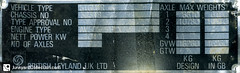 AEC Mercury '196477 (junkyardcollection) Tags: mercury number vin idtag numberplate aec vintag typenschild idplate chassisplate aecmercury chassisnumber vinplates serialnumberplate numerodechassis