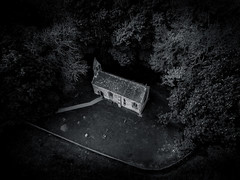 Great Givendale Church (Draws_With_Light) Tags: camera england tree church architecture woodland season landscape spring unitedkingdom structures places scene gb vegetation churchyard aerialphotography drone eastridingofyorkshire greatgivendale davidhopley djiphantom3advanced
