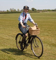 WRAF on a  vintage bike (Beth Hartle Photographs2013) Tags: world vintage war aircraft transport historic ii shuttleworth raf wraf shuttleworthcollection womensroyalairforce shuttleworthpremiereairshow