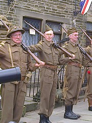 photo1509 (melissawhitaker503) Tags: home army weekend guard khaki 1940s soldiers guns uniforms dads drill haworth 2016