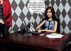 Episode 9 Posted :) (Doll Affinity) Tags: me cat fun toys weird funny doll dolls ooak barbie mini story custom stories drama diorama affinity reroot rehair katniss