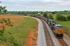 CSX N302-17 at Decherd, TN (James Patrick Kolwyck) Tags: railroad chattanooga train photography tn tennessee south sub transportation n302 coal ge railfan csx subdivision railfanning csxt decherd gevo es44ac ac4400cw