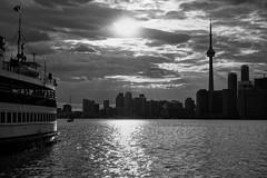 Toronto island crossing (Westhamwolf) Tags: city lake toronto ontario canada tower ferry cn island capital