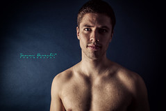 The First Step (SammDewaele) Tags: boy shadow black male men guy eye closeup dark nose marcel eyes adult arm head muscle spirit dream young lips dreaming jeans dreams athlete youngadult closedeyes youngguy maleadult dreamingguy