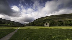 Buttercups, barn and big sky (Malajusted1) Tags: muker swaledale yorkshiredalesnationalpark yorkshire buttercups wildflower limestone barn sky clouds summer england