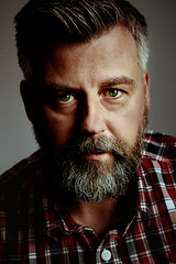 Not Ready Yet (Greig Reid) Tags: camera family portrait color colour male film face photoshop canon silver lens beard eos grey photo eyes image availablelight gray grain picture naturallight indoor indoors photograph 5d facialhair tamron filmic windowlight lightroom catchlight 2470mm filmlook portraitformat