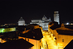 Pisa at Night 3 (chriswalts) Tags: travel sunset italy streets tower night pisa leaning